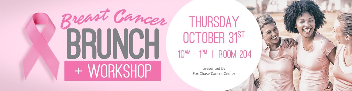 Join us for the Breast Cancer Awareness Brunch, Thursday October 31st!