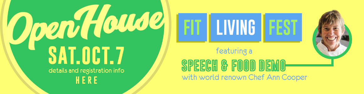 Fit Living Fest Happens October 7th - Meet & Greet with World Famous Chef Ann Cooper!