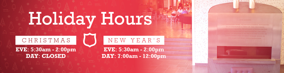 Holiday Hours for Christmas and New Year's!