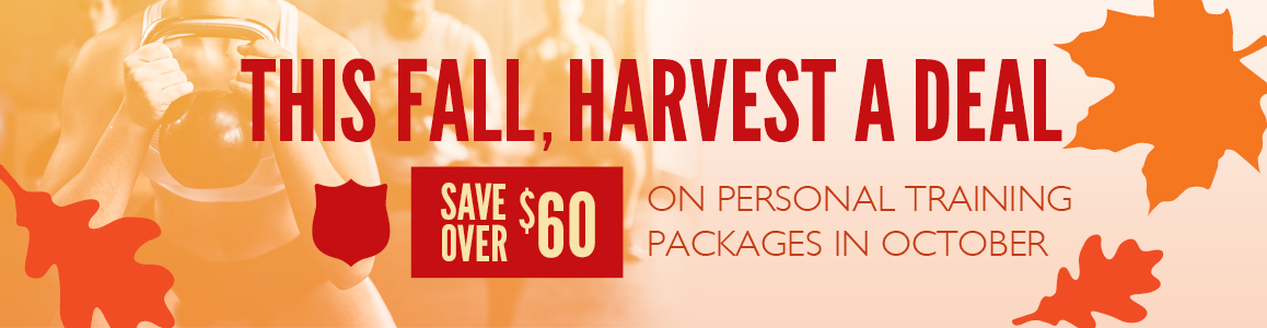 Save Big on Personal Training this October!