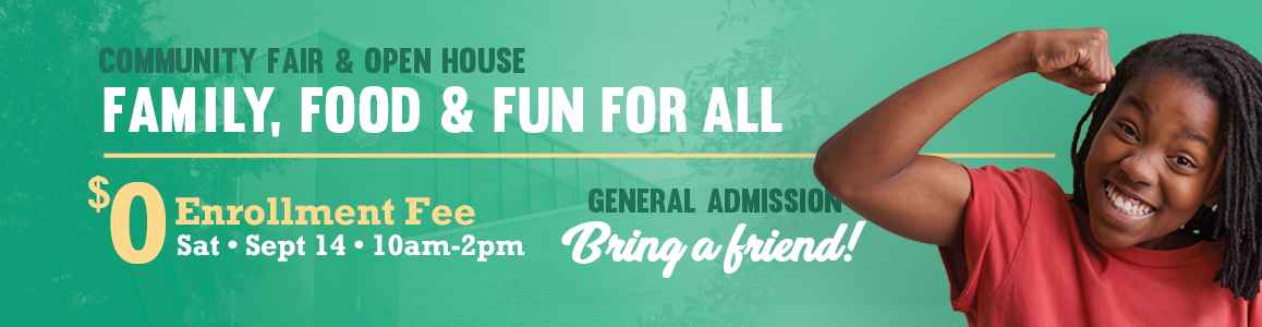 Open House & Community Fair, Saturday September 14 from 10am to 2pm!