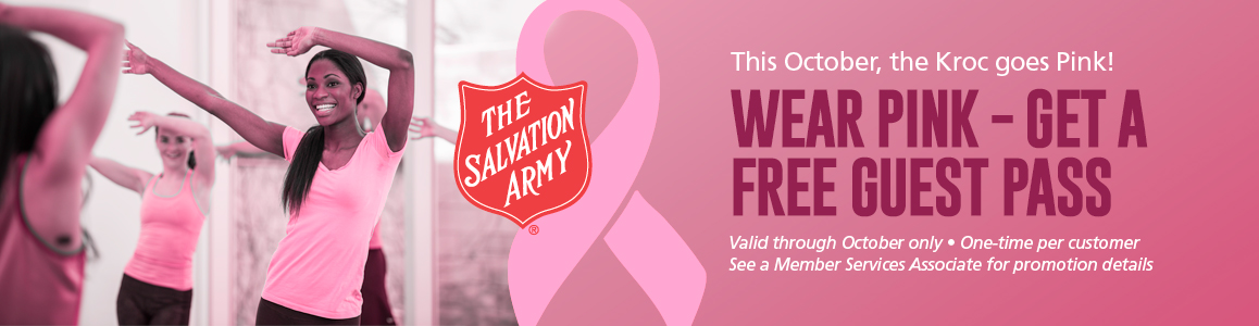 Wear Pink this October and get a FREE Guest Pass for a Gift!