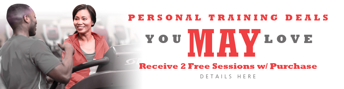 Receive 2 FREE sessions with Purchase of 8 or 12 session Packages All May Long!