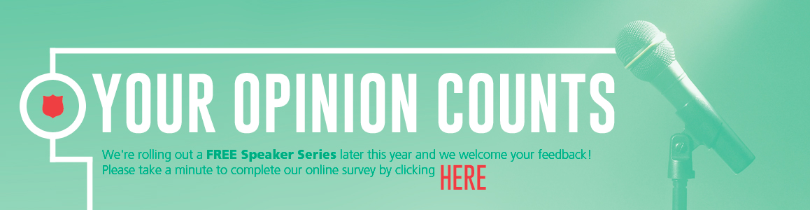 Take our quick Survey to let us know what you want in our Upcoming Kroc Speaker Series!